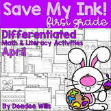 Save My INK: April 1st Grade Math and Literacy Activities