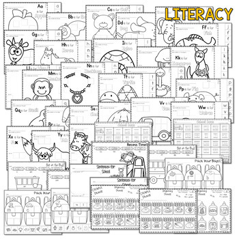 Save My INK: Aug/Sept NO PREP Math and Literacy Activities