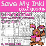 Save My INK: February 1st Grade Math and Literacy Activities