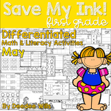 Save My INK: May 1st Grade Math and Literacy Activities