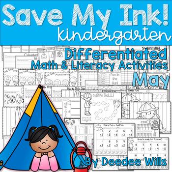 Save My INK: May NO PREP Math and Literacy Activities
