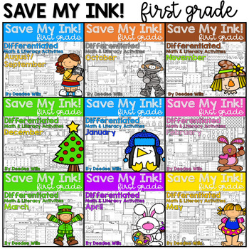 Save My Ink 1st Grade Worksheets Bundle