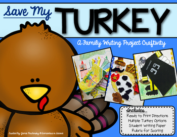 Save My Turkey Home Writing Project Craftivity