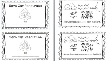 Save Our Resources- An interactive early reader to celebrate Earth Day!