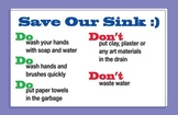 Save Our Sink Do's & Don'ts Poster