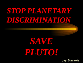 Save Pluto!  Introductory POWERPOINT for fun