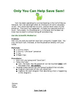 Save Sam! Scientific Method Introduction Lab