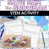 Save Sam the Snowman Winter STEM Activity