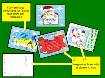 Save Santa's Christmas map grid reference animated Geography lesson