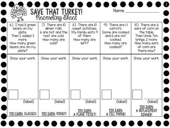 Save A Turkey - Missing Partner Activity