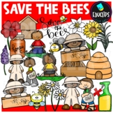 Save The Bees Clipart Set - EARTH DAY {Educlips Clipart}