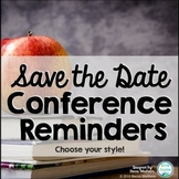 Save The Date Conference Reminders