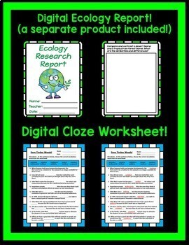 Save Timber Woods! Journeys 4th Grade Unit 6 Lesson 29 Google Drive Resource