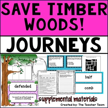 Save Timber Woods! Journeys 4th Grade Unit 6 Lesson 29 Activities and Printables