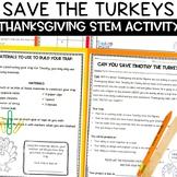 Save Timothy the Turkey Thanksgiving STEM Activity