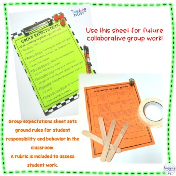 Save Timothy the Turkey Thanksgiving STEM Hands on Activity