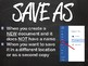 Save Vs. Save As (Chalkboard)