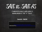 Save Vs. Save As (Chalkboard)