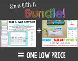 Bundle:  Read It, Build It, Write It AND Read It, Type It, Write It - EDITABLE!