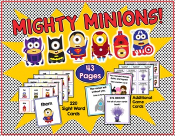 Save With a Bundle: Mighty Minions Sight Word Game & Read It, Build It, Write It