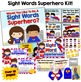 Save With a Bundle:  Sight Words Superhero Kits 1 AND 2