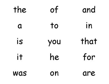 Save Your Sight Words 1st Grade High Frequency Edition