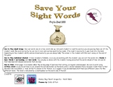 Save Your Sight Words Fry's 2nd 100