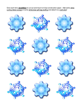 """""""Save a Snowman!"""" --  Active Group Game and Craft for Winter Days Inside!"""