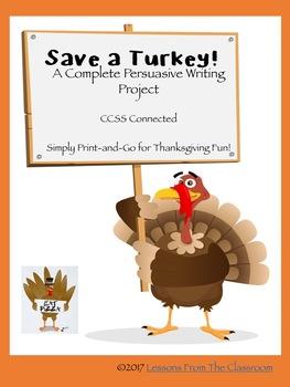 Save a Turkey! Persuasive Writing Project Fun