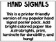 Save my Ink! Printer Friendly Hand Signal Signs