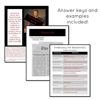 Save or Destroy Machiavelli: a Machiavelli lesson plan and activity