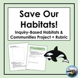 Save our Habitats - Grade 4 Inquiry-Based Habitats & Communities Project +Rubric
