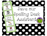 Save our Spelling Desk Visual