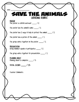 Save the Animals Poster Project