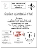 Save the Bees! Informational Text Activity