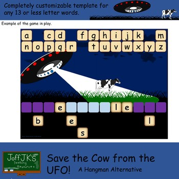 Save the Cow from the UFO - a hangman alternative