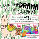 Save the DRAMA for the LLAMA!! Problem Solving & Social Emotional Learning