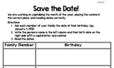 Save the Date! (CCSS 1st grade, capitalize date, add comma)