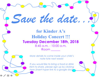 Save the Date- Holiday Concert- Editable