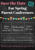 Save the Date for Spring Parent Conferences