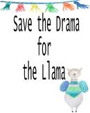 Save the Drama Llama Poster