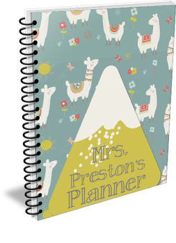 Save the Drama for Your Llama Simple Teacher Planner Set