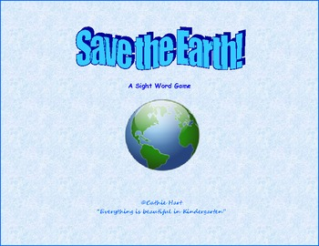 Save the Earth!  An Earth Day Sight Word Game