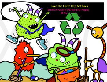Save the Earth Clip Art Pack