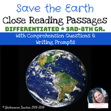 Save the Earth Close Reading Passages and Questions (Differentiated)