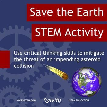 Save the Earth! Critical Thinking Space Themed STEM Activity