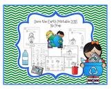 Save the Earth Printable 2015 No Prep