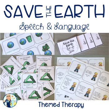 Speech Therapy Themed Packet for Mixed Groups: EARTH DAY