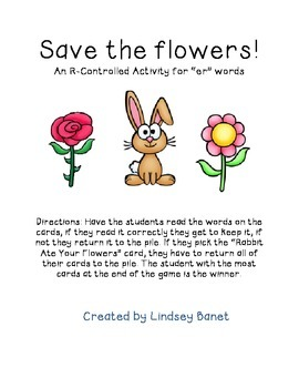 """Save the Flowers! R-Controlled """"Er"""" Game"""