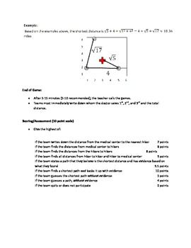 Save the Hikers (Grades 6-9) Pre-Algebra to Algebra